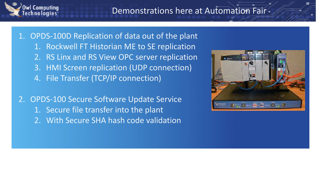 Owl Cyber Defense - Presentation - Data Diodes Implement DHS