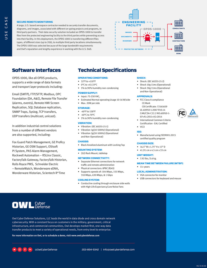 Owl Cyber Defense - Network Security Solutions - OPDS-1000 - Page 2