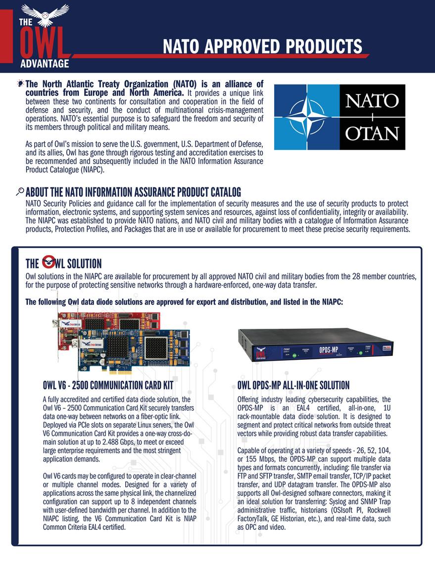 Owl Cyber Defense - Data Sheet - Owl Advantage - NATO Approved