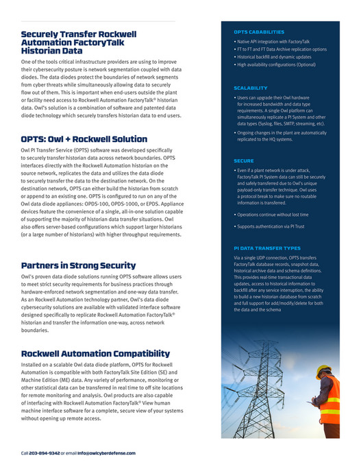 Owl Cyber Defense - Brochure - Network Security Software
